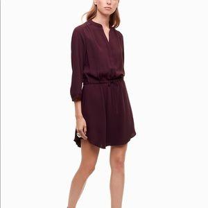 ARITZIA Babaton silk dress in plum
